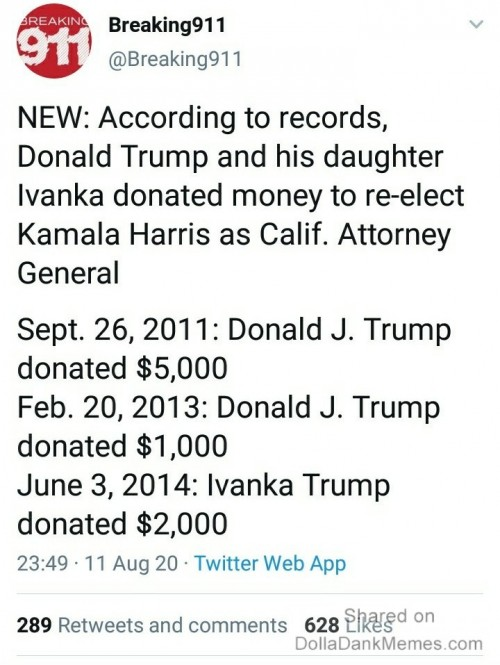 Trump Donated to Kamala